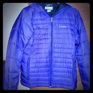 Columbia  Purple  Winter puffer Jacket  Coat size